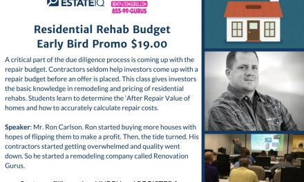 Real Estate IQ Seminar: Residential Rehab Budget